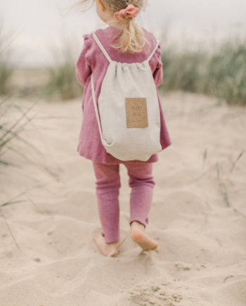 hiuma store, linen kids backpack, beach backpack