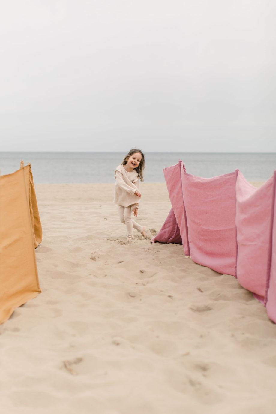 lniany parawan plażowy, parawan na plażę