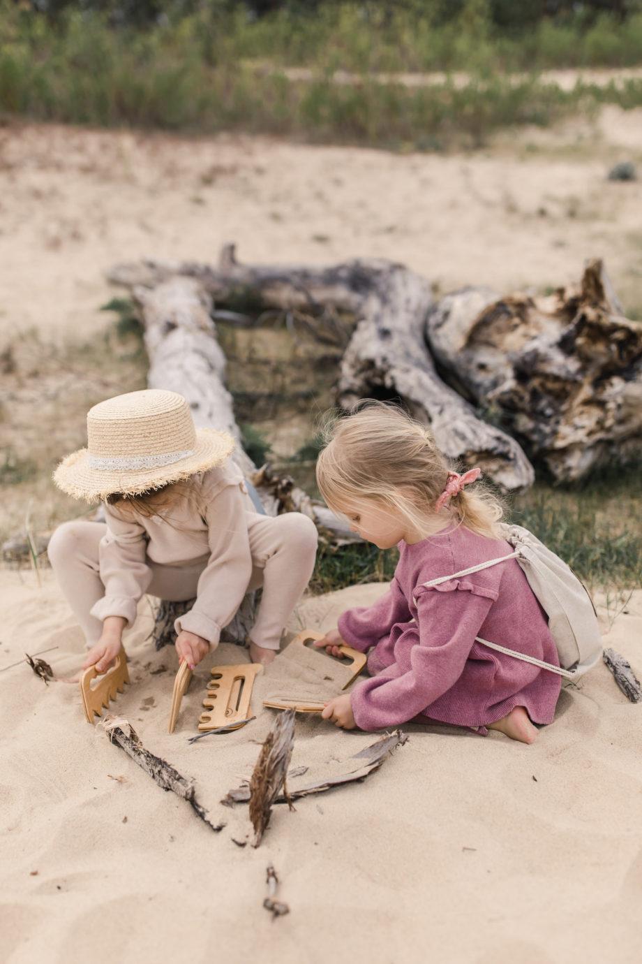 polskie drewniane zabawki na plażę, zabawki plażowe dla dziecka