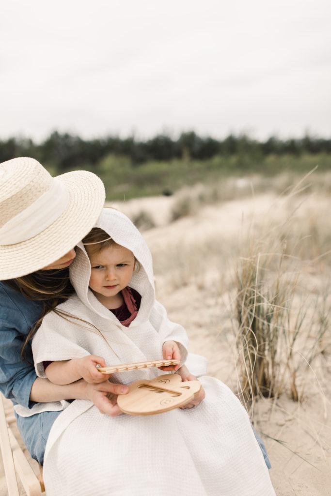 ręcznik lniany ponczo dla dziecka, hiumastore