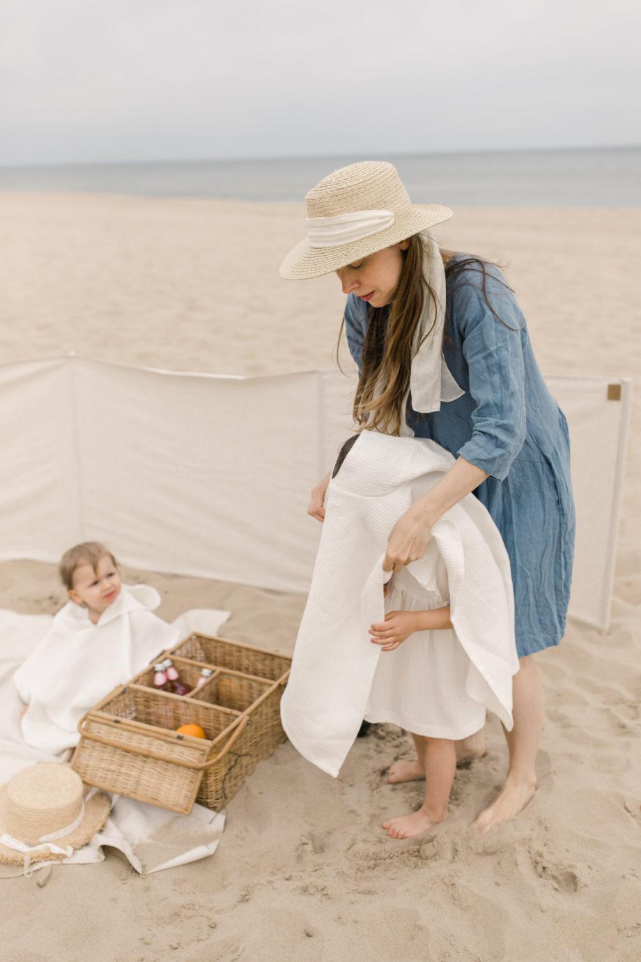 linen beach towel, kids poncho towel, linen poncho towel for kids